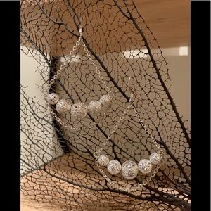 Anthropologie Silver Filigree Balls Earrings
